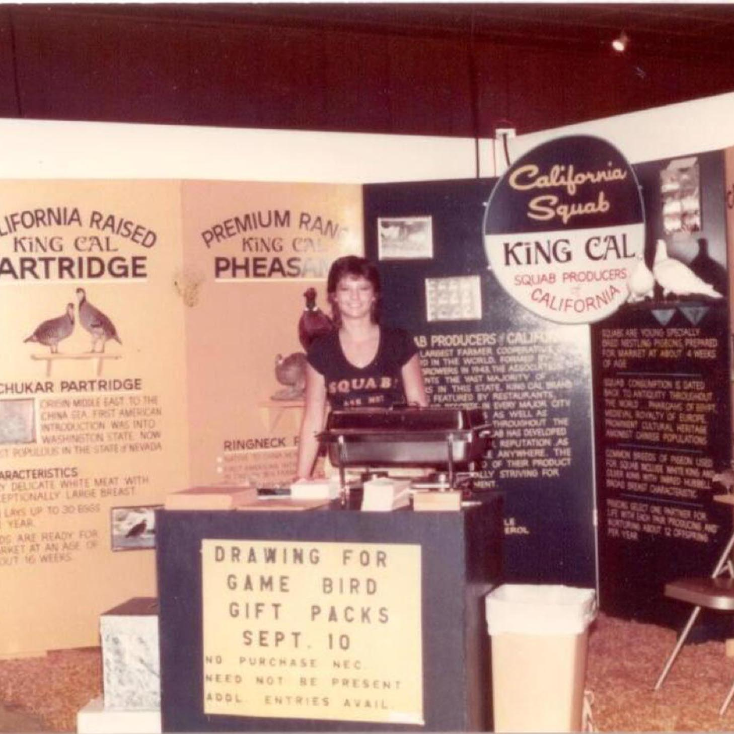 1982. Squab Producer of California at the California State Fair.