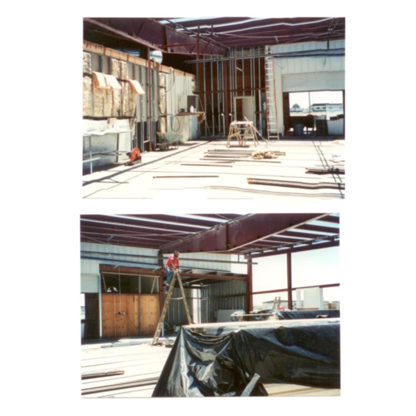 Early 1990s. Expansion in SPOC Modesto, California processing plant.