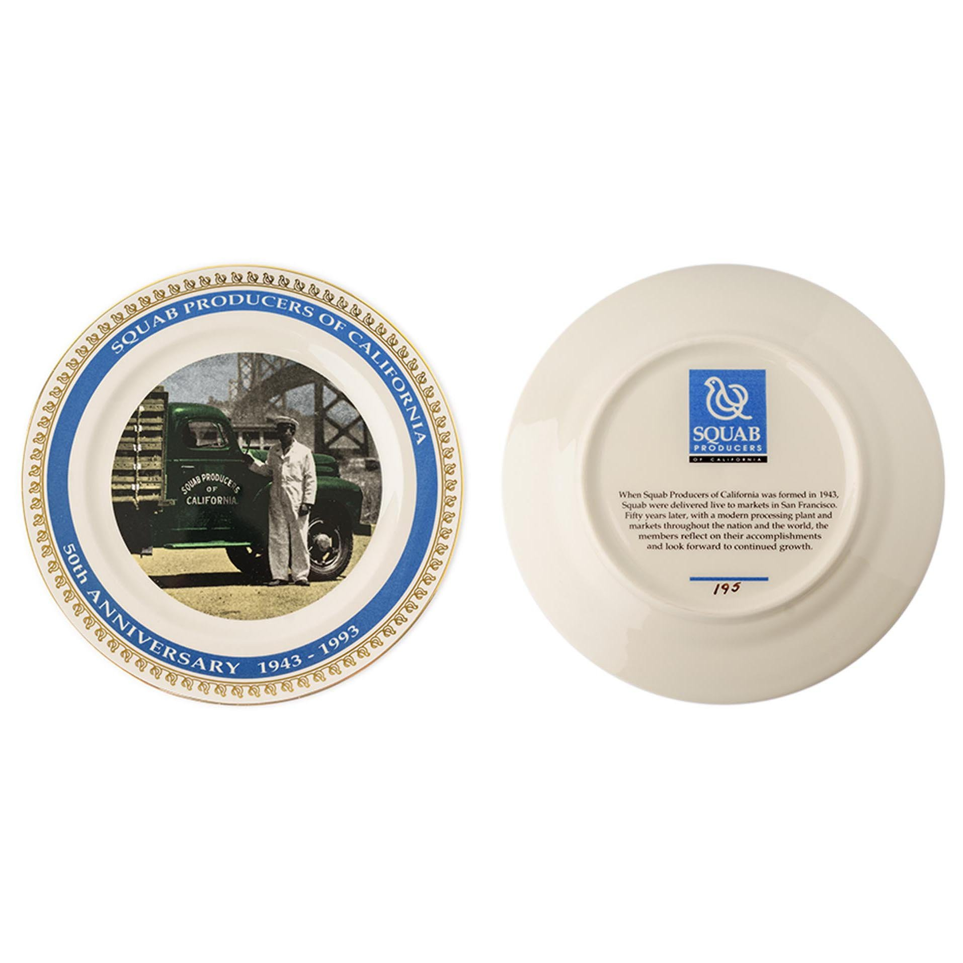 1993. Commemorative plates celebrating 50th anniversary of SPOC.