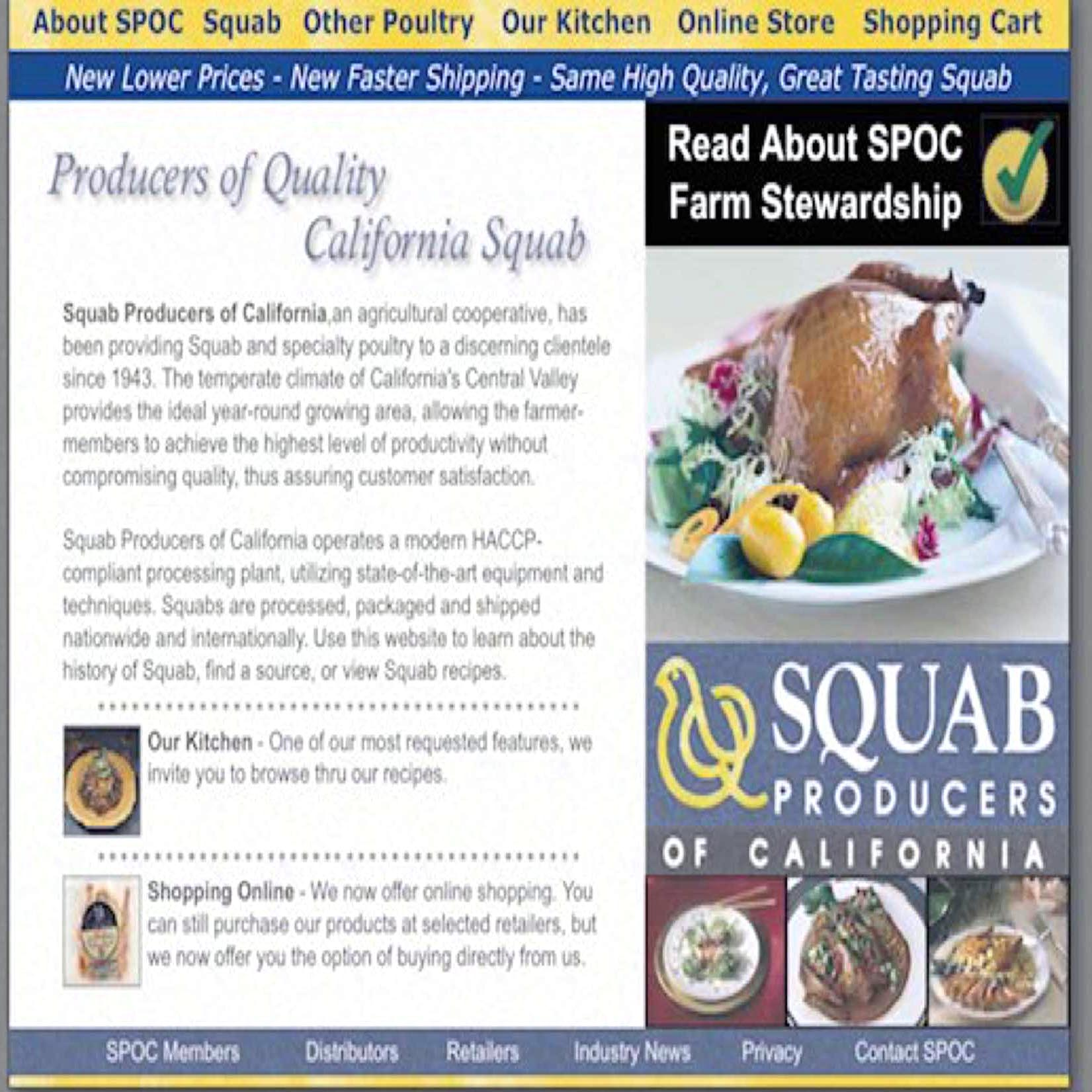 2005. SPOC launch first website, Squab.com